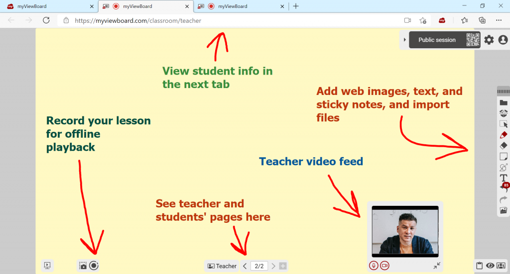 The new user interface for Classroom is a clean and simple greyscale design.