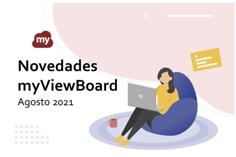 Novedades myViewBoard en Agosto