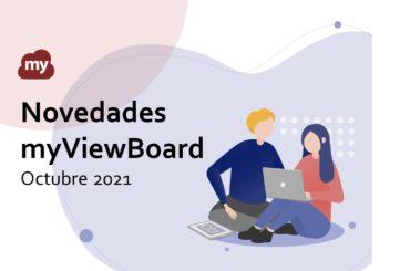 Novedades myViewBoard Octubre